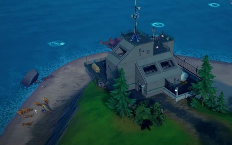 New IO watch towers in Fortnite Chapter 2 Season 8 map (Image via Fortnite)