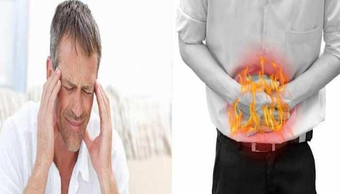 पेट में गैस बनने के बाद सिर में दर्द होना (फोटो -  zee news)