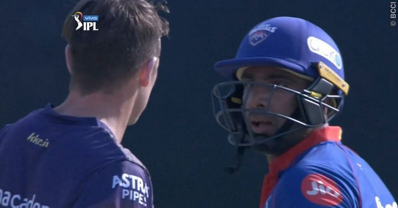 Ravichandran Ashwin had words with Tim Southee after being dismissed (Image: IPL)