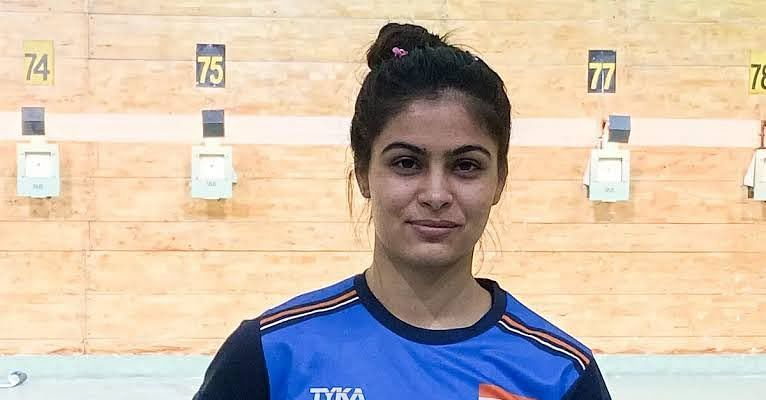 Manu Bhaker finished third in 10m air pistol event. (©Twitter)