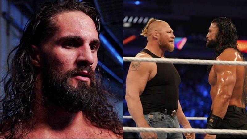 WWE सुपरस्टार्स सैथ रॉलिंस, ब्रॉक लैसनर और रोमन रेंस