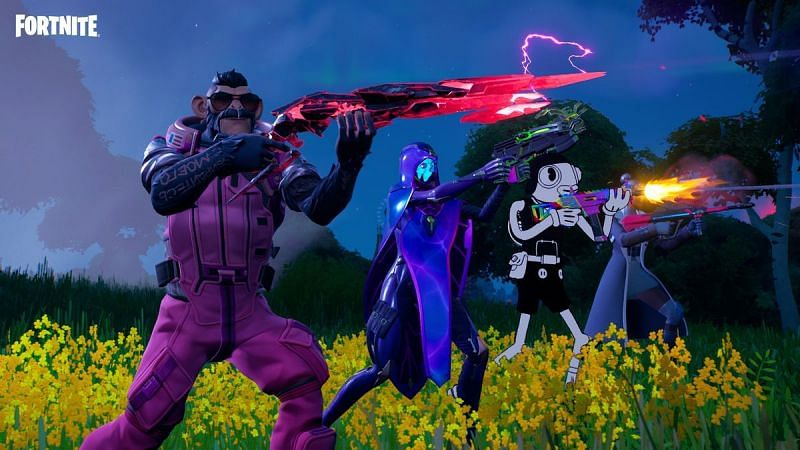 New weapons added for Chapter 2 Season 8. (Image via Epic Games)