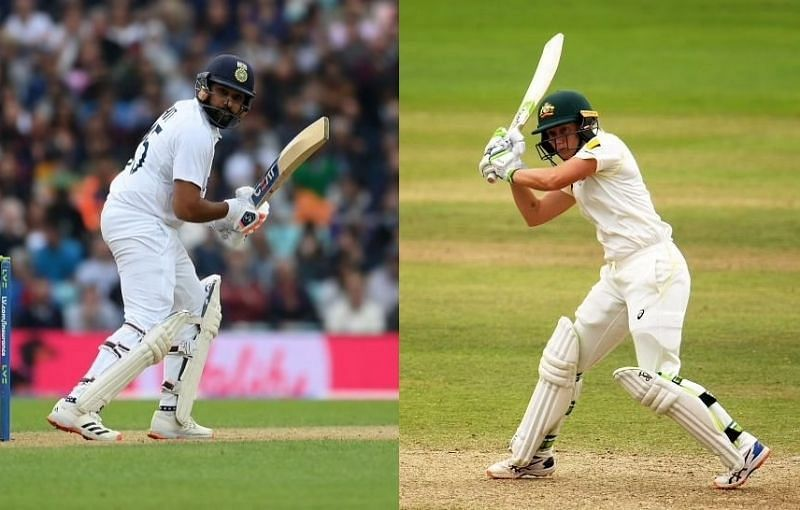 Rohit Sharma and Alyssa Healy. Pics: Getty Images
