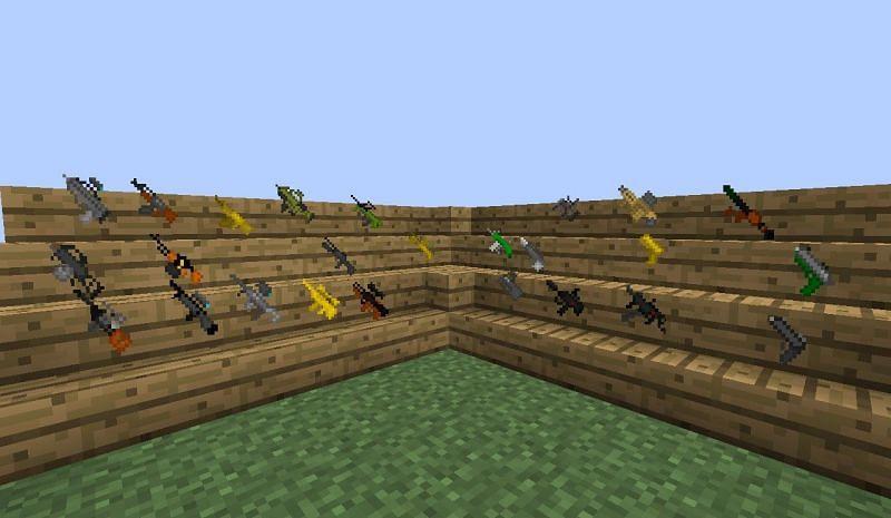 Better guns for TheGunMod (Image via Minecraft)