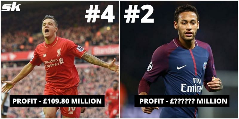 Coutinho and Neymar fetched massive profits, but who tops this list?