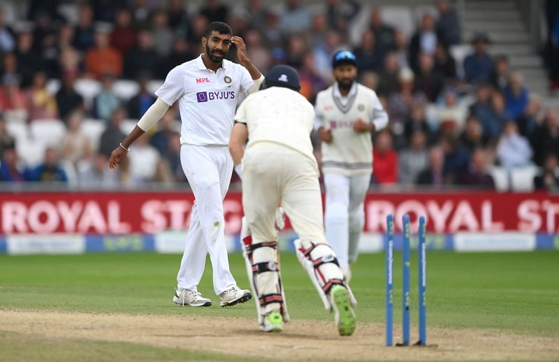 Jasprit Bumrah in action against England