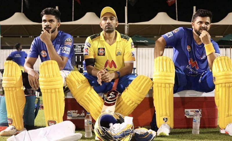 ट्रेनिंग सेशन के दौरान चेन्नई सुपरकिंग्स के खिलाड़ी