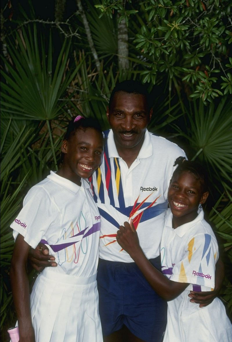 Serena and Venus, with their father Richard Williams in 1992.