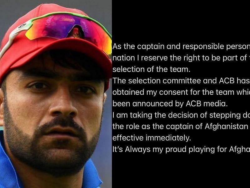 राशिद खान ने ट्विटर पर पोस्ट लिखकर कप्तानी छोड़ने की घोषणा की