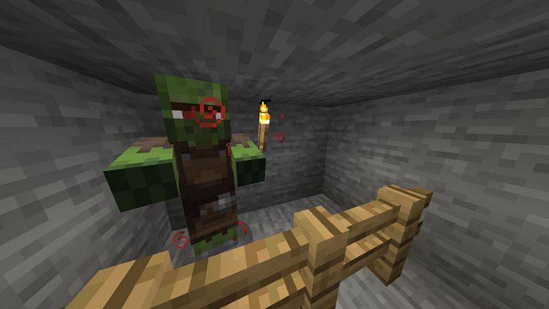 Curing a zombie villager is one way to lower their trade prices. Image via Minecraft