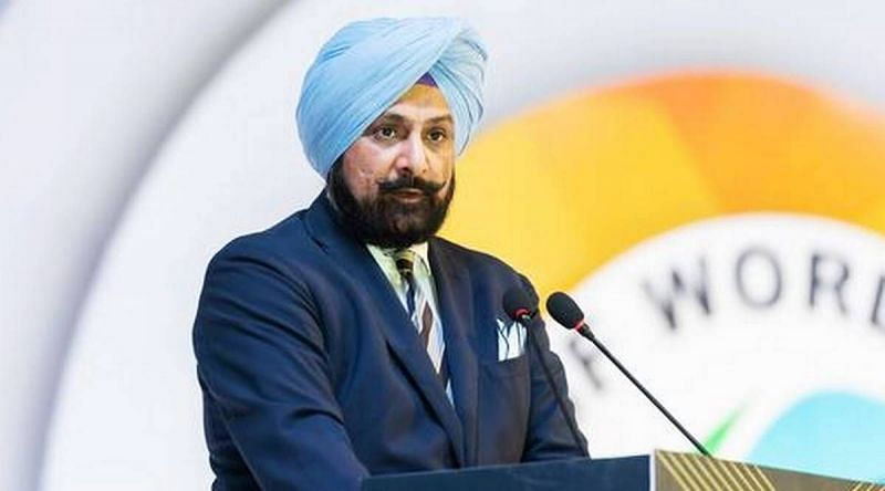 Raninder Singh was re-elected as NRAI president (Pic source: Indian Express)