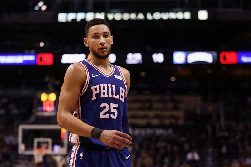 Ben Simmons in action during an NBA game.