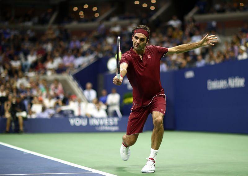 Roger Federer at the US Open 2018