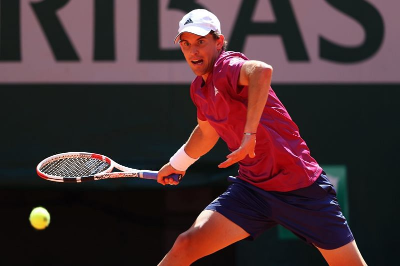 Dominic Thiem at the 2021 French Open