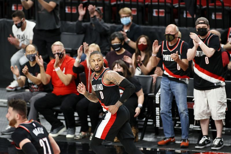 Damian Lillard of the Portland Trail Blazers pictured during an NBA game