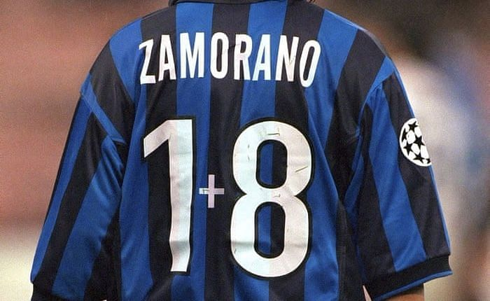 Zamorano had what is probably the most unusual number ever