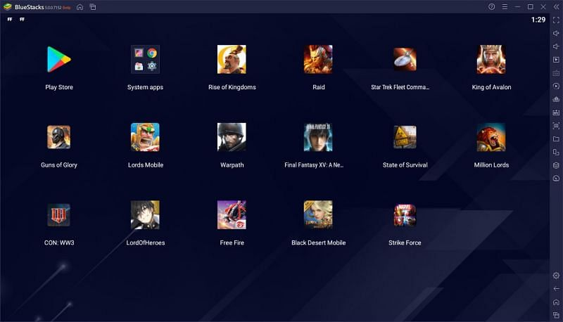 Games on BlueStacks (Image via BlueStacks)