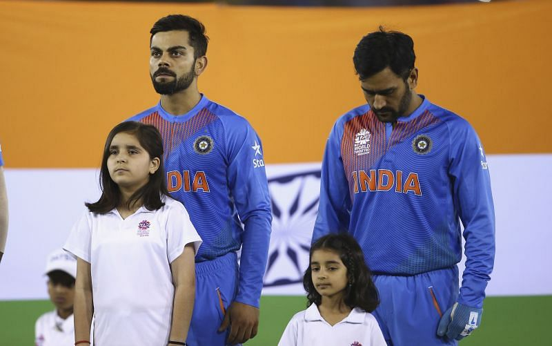 Virat Kohli will have MS Dhoni (R) by his side his final T20 match as captain
