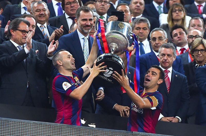 Xavi and Iniesta enjoyed many successful years as Barcelona players