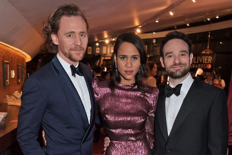 Tom Hiddleston, Zawe Ashton, and Charlie Cox at The Olivier Awards 2019 (Image via Getty Images)
