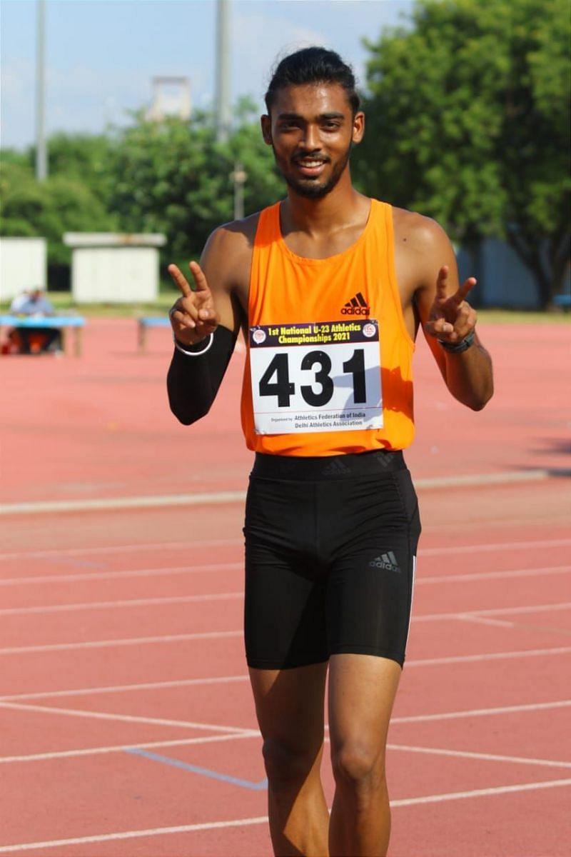 110m Hurdles winner: Tejas Shirse (Maharashtra)