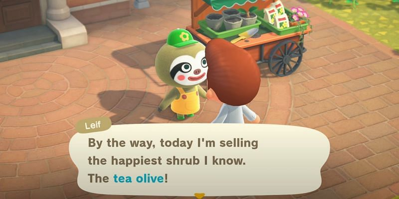 Tea Olive Bushes will be available in fall (Image via Animal Crossing world)