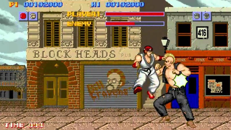 Competitive games like Street Fighters were still an alien term in Japan (Image via Capcom)