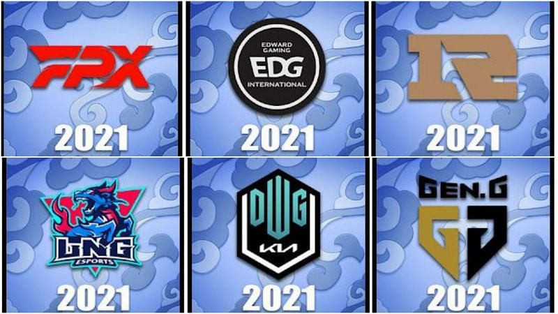 Worlds 2021 team icons as currently showcased in the PBE (Image via Surrender@20)