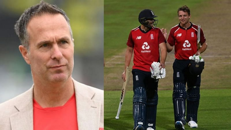 Michael Vaughan (L) urges England players to skip T20 World Cup.