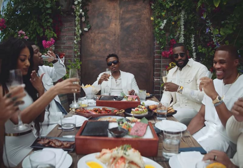 LA Lakers' star duo LeBron James and Russell Westbrook appeared in rapper Nas' new music video for 'Brunch on Sundays'