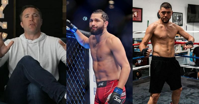 Chael Sonnen (left) wants to see Jorge Masvidal (center) fight Nick Diaz (right) [Right Image Courtesy: @nickdiaz209 on Instagram]