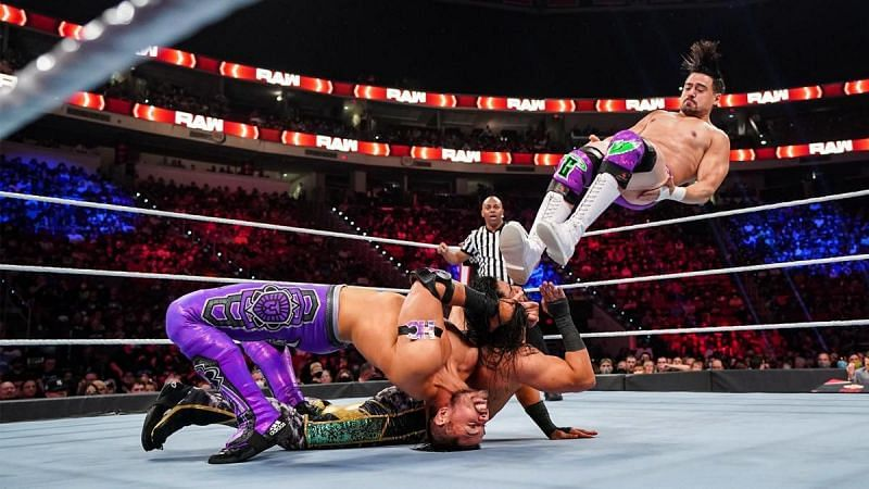 Humberto Carrillo and Angel Garza on RAW
