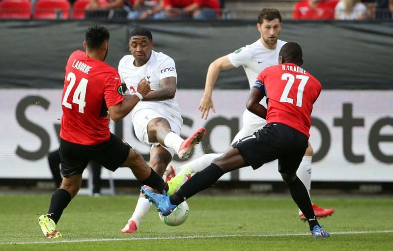 Tottenham Hotspur salvaged a draw against a spirited Rennes side