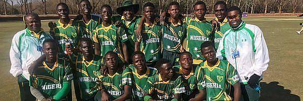 Nigeria National Cricket team strikes a pose