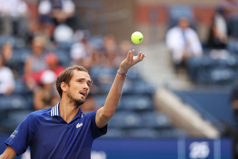 Daniil Medevev was absolutely dominant on his serve in the final.