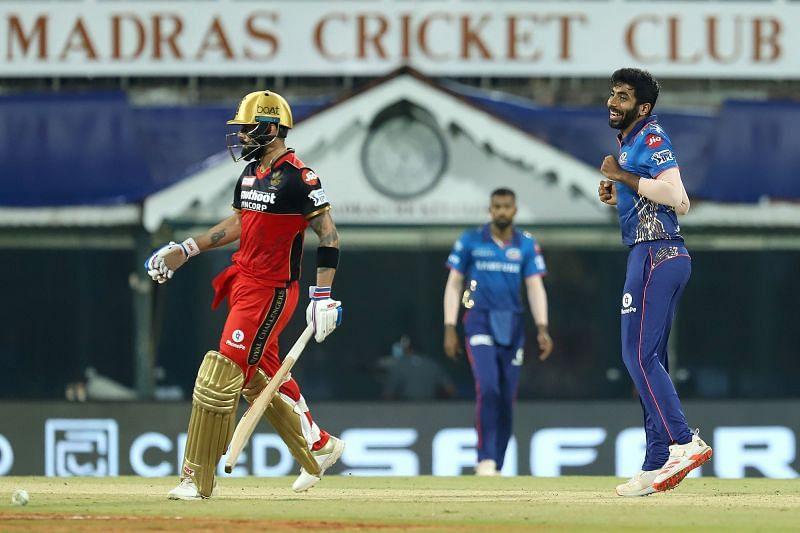 It's Jasprit Bumrah vs Virat Kohli in IPL 2021 tonight (Image Courtesy: IPLT20.com)