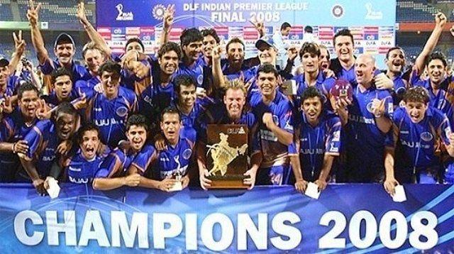 Rajasthan Royals celebrating their IPL win