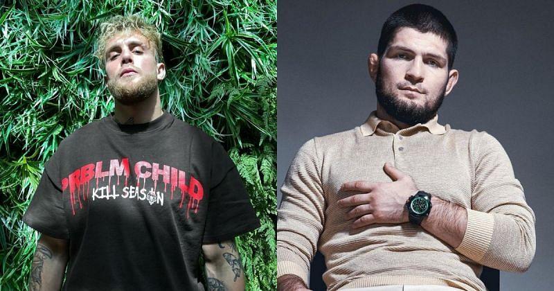 Jake Paul (L) and Khabib Nurmagomedov (R) via @jakepaul & @khabib_nurmagomedov on Instagr