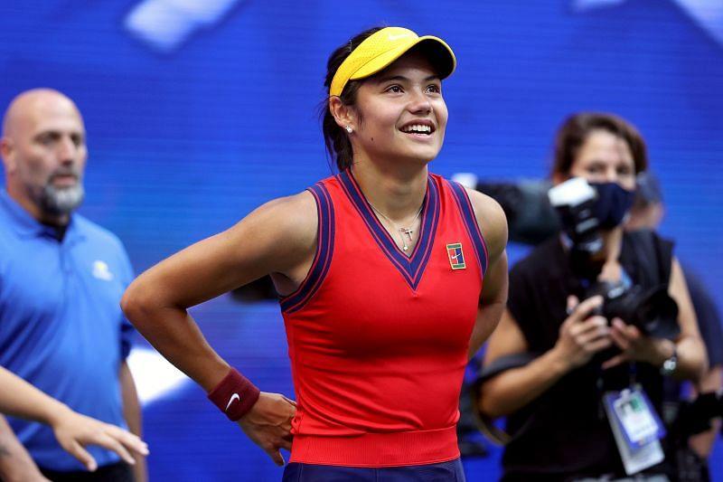 Emma Raducanu, after winning the 2021 US Open