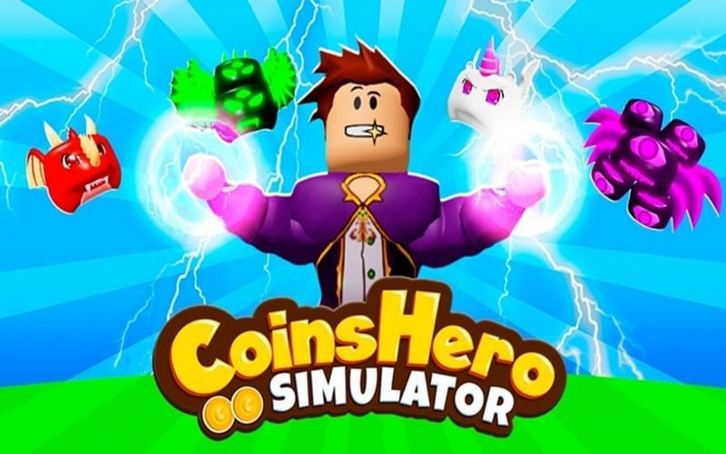 Roblox Coins Hero Simulator is a large collectathon (Image via Oh My Crazy Games)