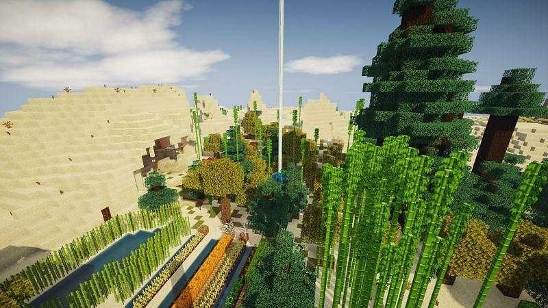 Shader Chocapic13 lite (Gambar melalui Minecraft)