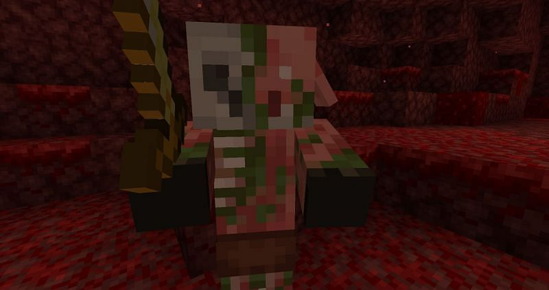 Zombified piglin in the Nether (Image via Minecraft)