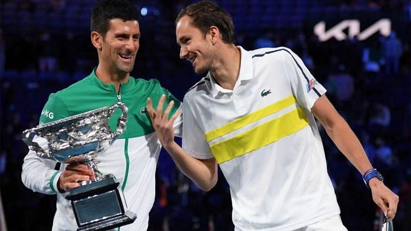 जोकोविच और मेदवेदेव इसी साल ऑस्ट्रेलियन ओपन के फाइनल में आमने-सामने थे।