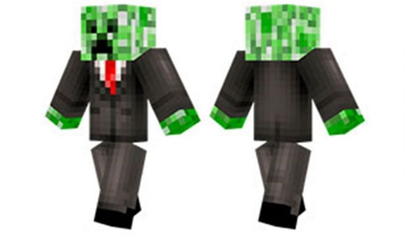 Custom skins can be anything the player desires. Image via Minecraft