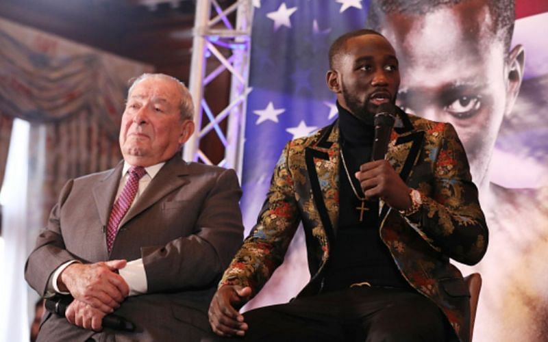 Bob Arum (left);  Terence 'Bud' Crawford (right)