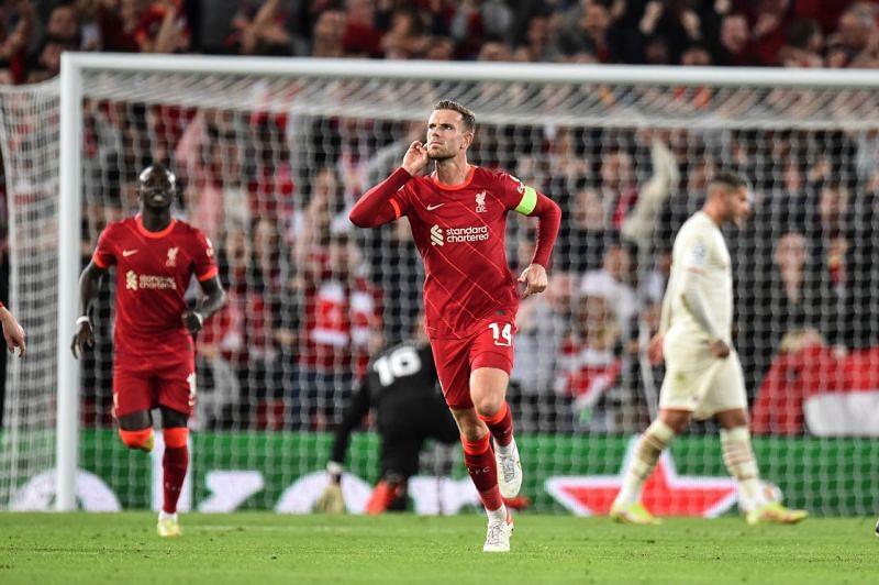 Jordan Henderson was the unlikely winner for Liverpool.