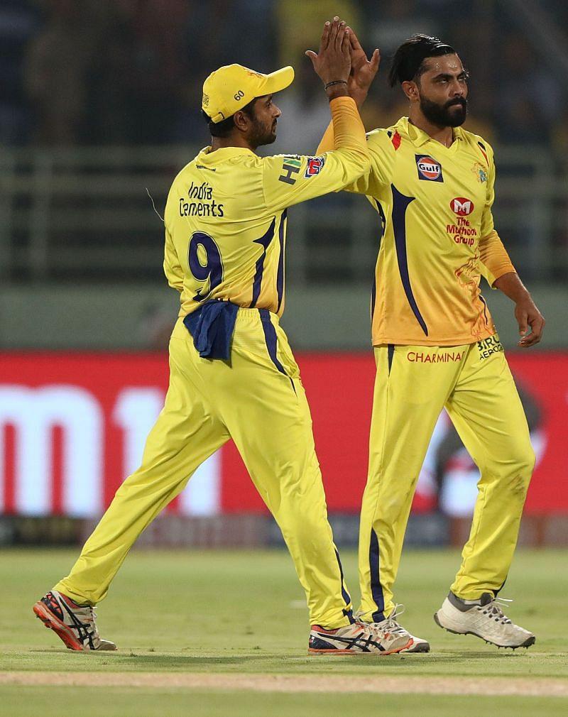 Jadeja celebrating a wicket