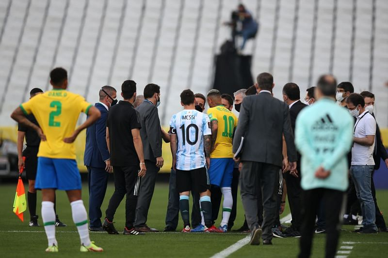 Lionel Messi confronted health official as they interrupted the game