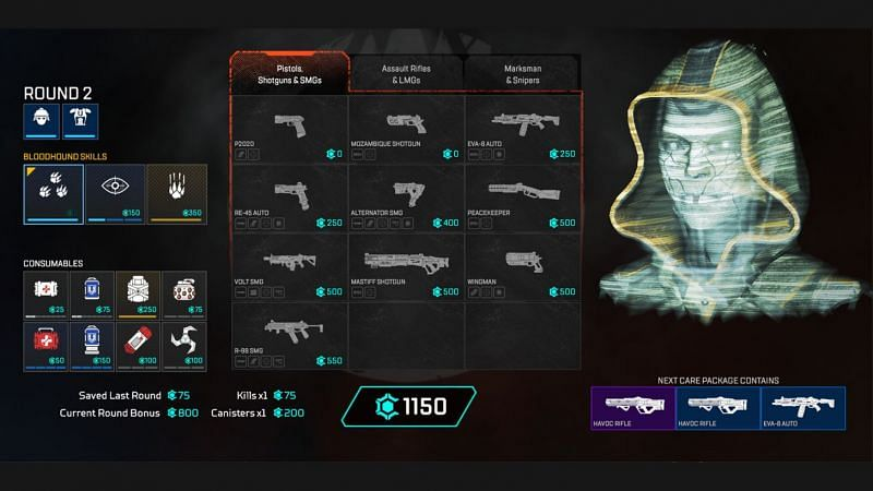 Thie buy phase before entering the game (Image via Respawn Entertainment)