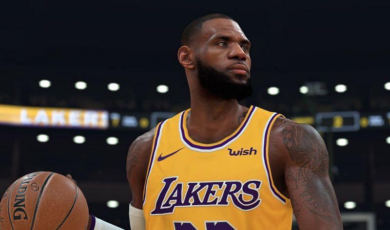 LeBron James as seen in NBA 2K